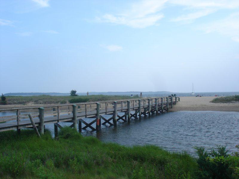 Bridge to beach at Coloinal acres beach